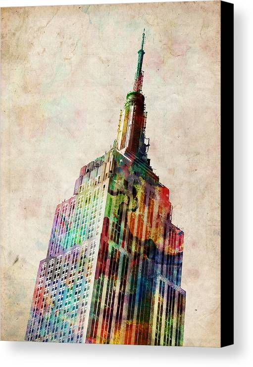 Empire State Building Canvas Print featuring the digital art Empire State Building by Michael Tompsett