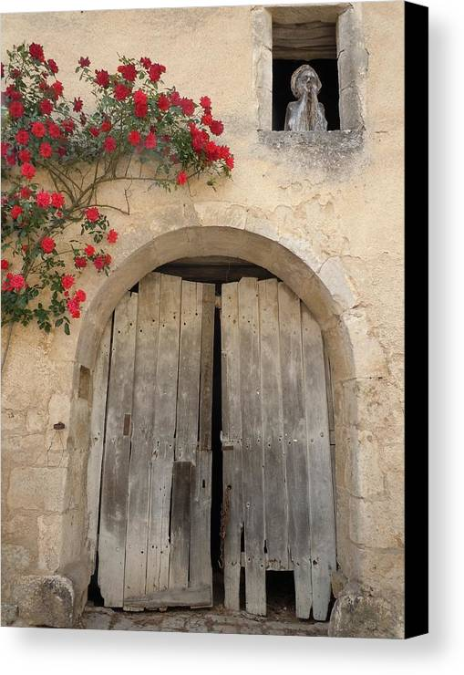 French Doors And Ghost In The Window Canvas Print Canvas