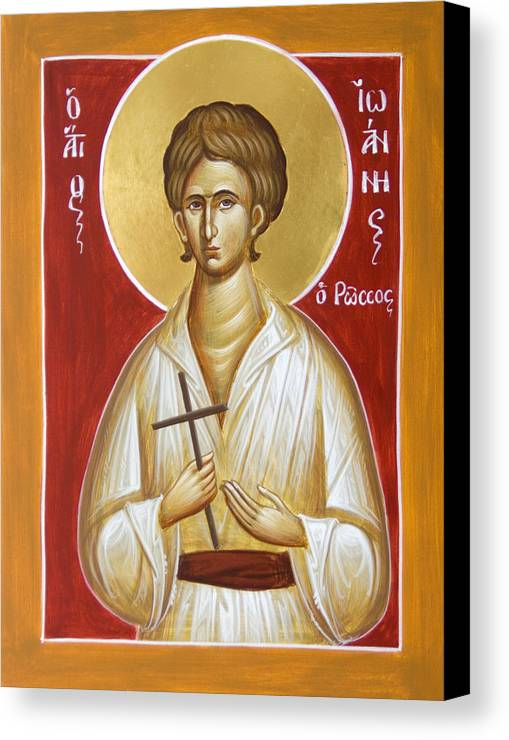 St John The Russian Canvas Print featuring the painting St John The Russian by Julia Bridget Hayes