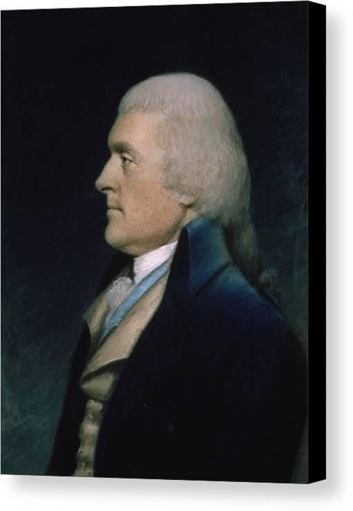 Thomas Canvas Print featuring the pastel Thomas Jefferson by James Sharples