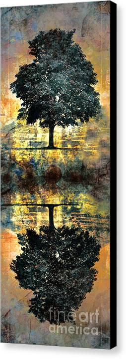 Tree Canvas Print featuring the digital art The Small Dreams Of Trees by Tara Turner
