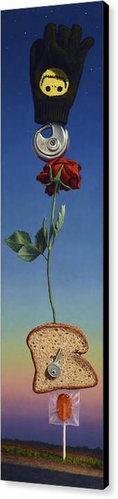 Still-life Canvas Print featuring the painting Tenuous Still-life 1 by James W Johnson