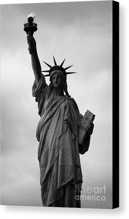 Usa Canvas Print featuring the photograph Statue Of Liberty National Monument Liberty Island New York City Nyc by Joe Fox