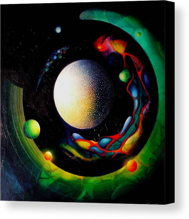 Microcosm Canvas Print featuring the painting Exit by Drazen Pavlovic