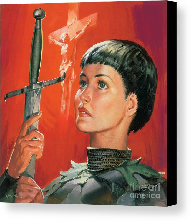 Joan Canvas Print featuring the painting Joan Of Arc by James Edwin McConnell