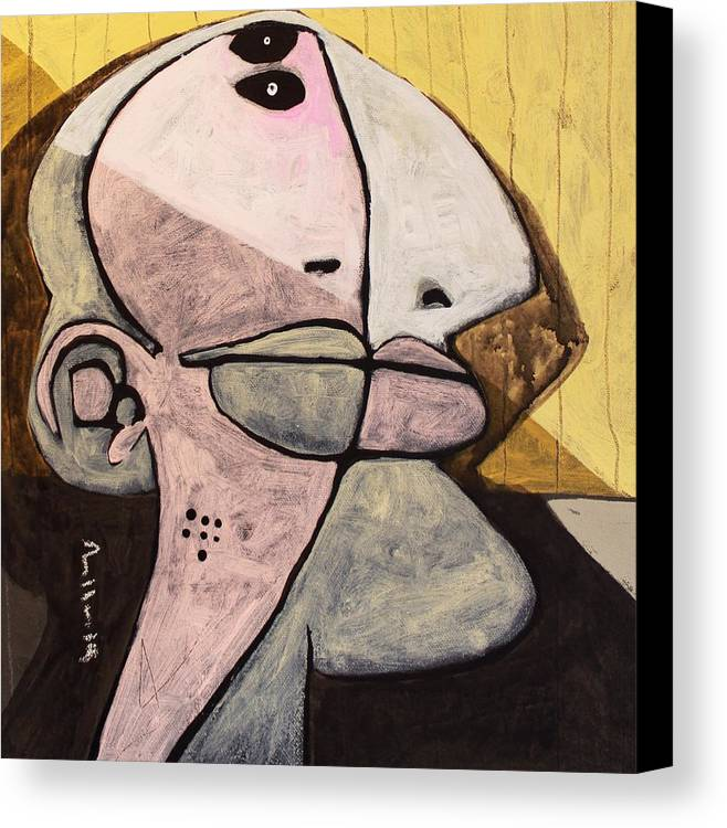 Face Canvas Print featuring the painting Noctis No. 5 by Mark M Mellon