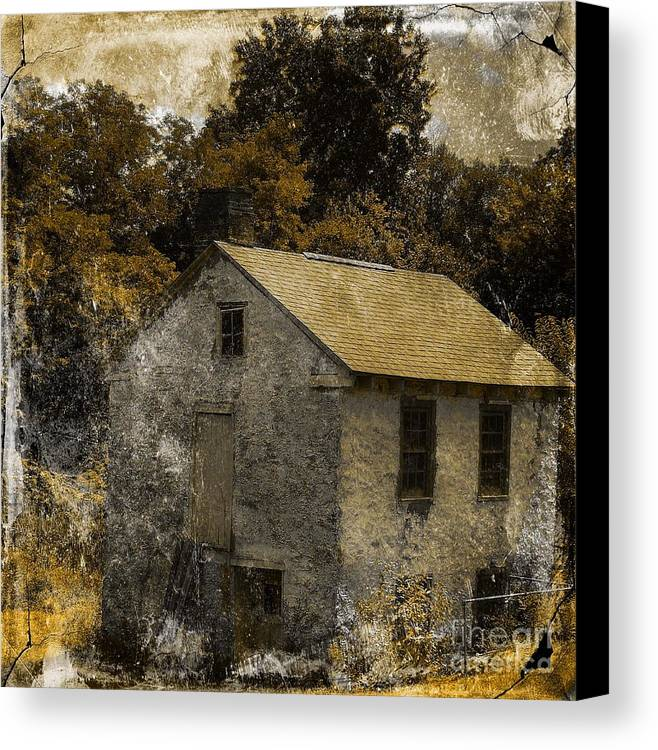 Architecture Canvas Print featuring the photograph Forgotten Barn by Marcia L Jones