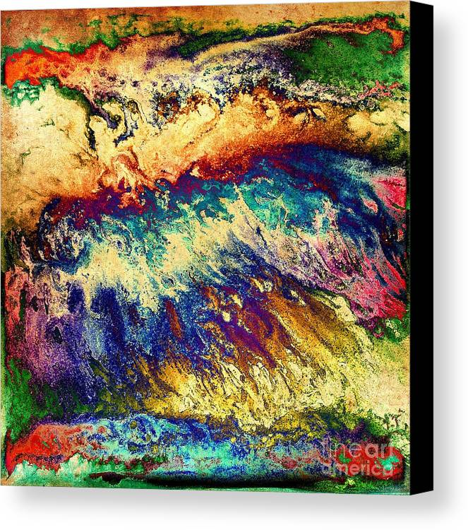 Red Canvas Print featuring the digital art Wave Of Color by Patty Vicknair
