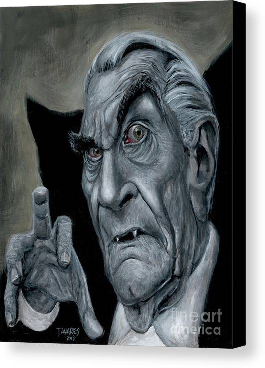 Martin Canvas Print featuring the painting Martin Landau As Bela by Mark Tavares