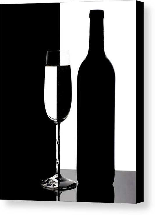 Wine Canvas Print featuring the photograph Wine Silhouette by Tom Mc Nemar