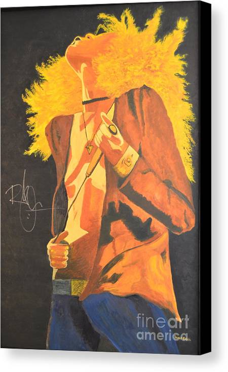Robert Plant Canvas Print featuring the painting Plant II by Stuart Engel