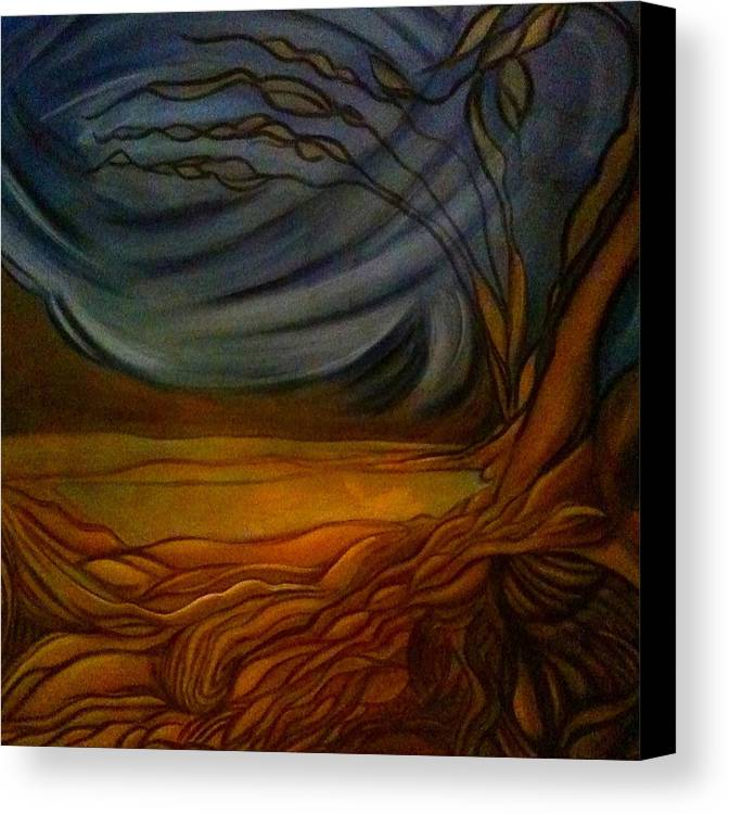 Landscape Canvas Print featuring the painting Untitled by Juliann Sweet