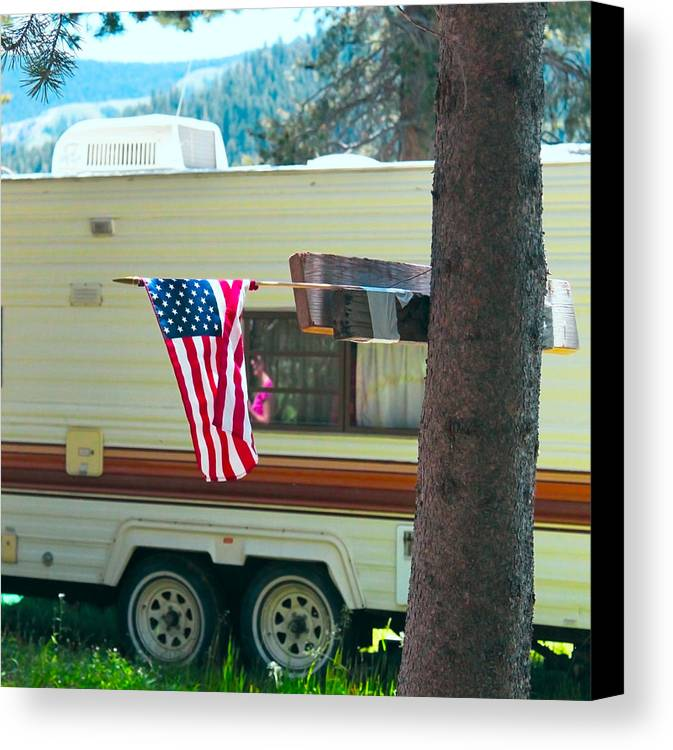 American Canvas Print featuring the photograph American Culture by Dean Drobot