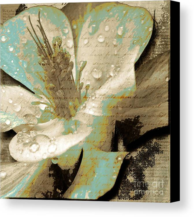 Canvas Print featuring the mixed media Beauty V by Yanni Theodorou