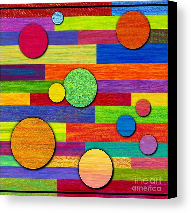 Colored Pencil Canvas Print featuring the painting Circular Bystanders by David K Small