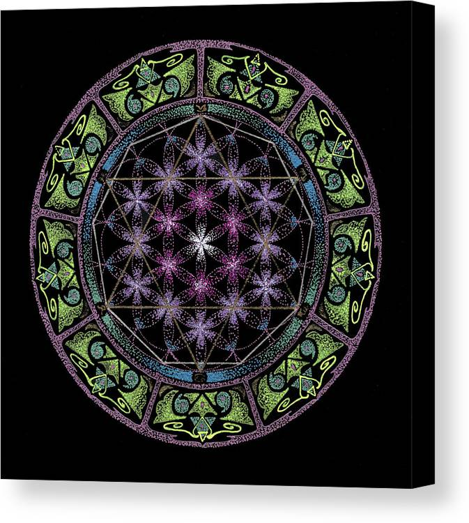 Divine Feminine Energy Canvas Print featuring the painting Divine Feminine Energy by Keiko Katsuta
