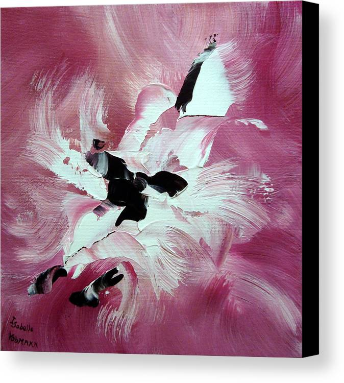 Abstract Canvas Print featuring the painting Douceur by Isabelle Vobmann