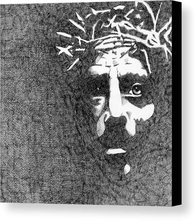 Jesus Canvas Print featuring the drawing Good Friday by Jack Puglisi