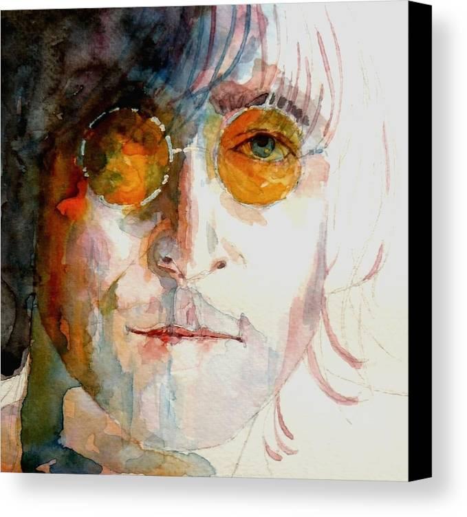 John Lennon Canvas Print featuring the painting John Winston Lennon by Paul Lovering