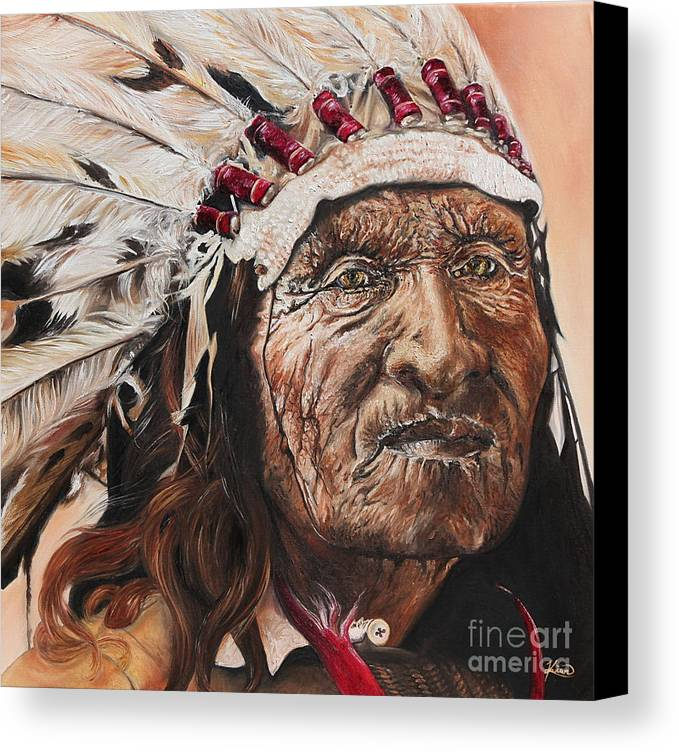 Annalise Kucan Canvas Print featuring the painting Signs Of His Times by Annalise Kucan