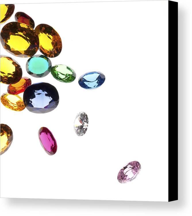 Aquamarine Canvas Print featuring the photograph Colorful Gems by Setsiri Silapasuwanchai