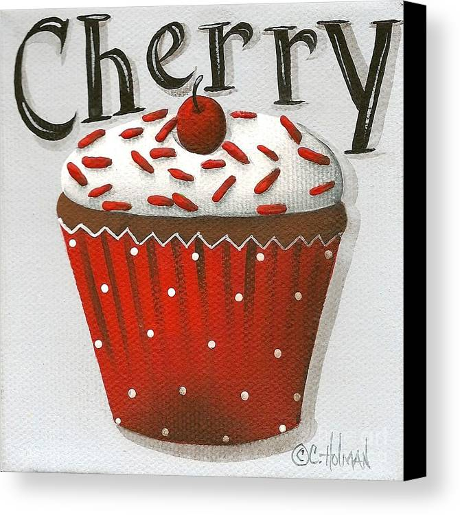 Art Canvas Print featuring the painting Cherry Celebration by Catherine Holman