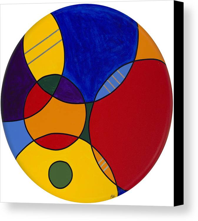Abstract Canvas Painting Canvas Print featuring the painting Circles Abstract 1 by Patty Vicknair