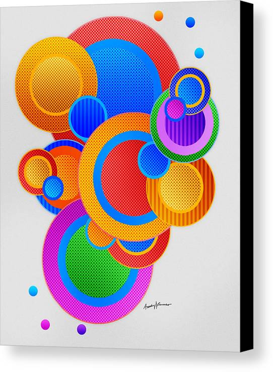 Abstract Canvas Print featuring the digital art Circles by Anthony Caruso