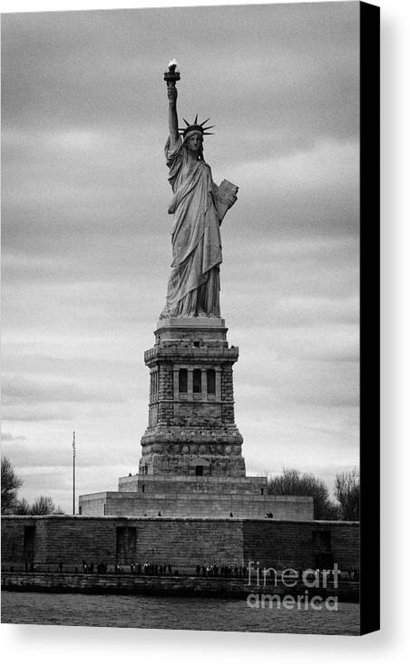 Usa Canvas Print featuring the photograph Statue Of Liberty Liberty Island New York City by Joe Fox