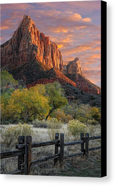 Zion National Park Canvas Print featuring the photograph Zion National Park by Utah Images