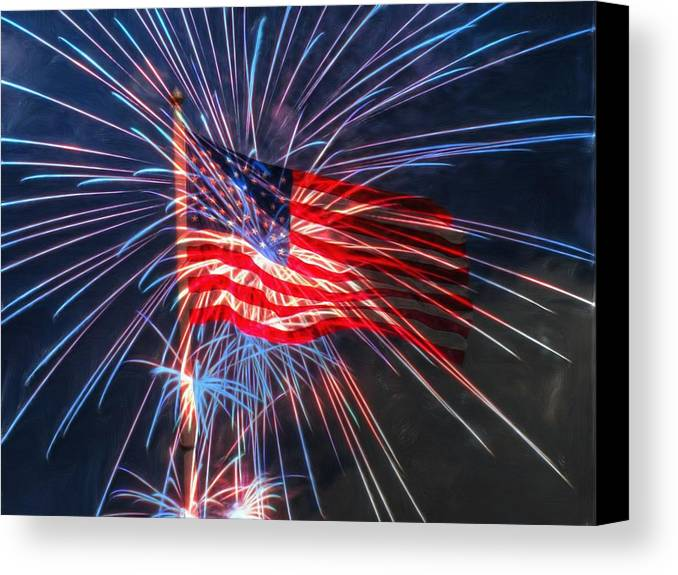 4th Canvas Print featuring the digital art 4th Of July by Heidi Smith