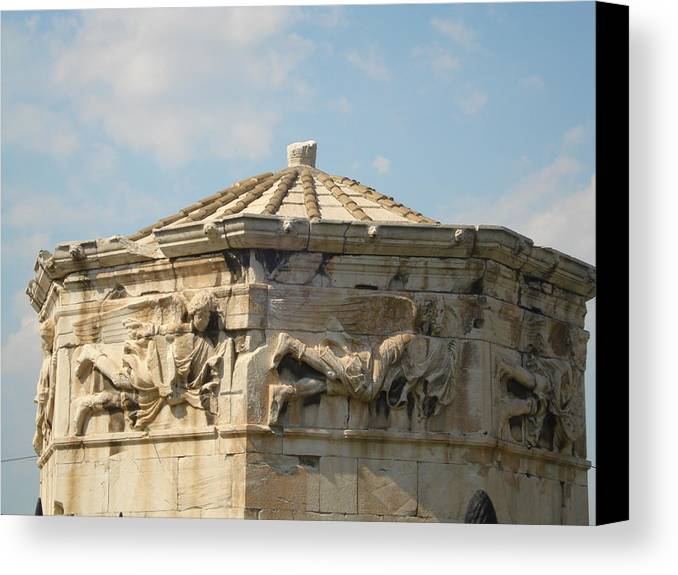 Pláka Is The Old Historical Neighborhood Of Athens Canvas Print featuring the sculpture Aerides by Greek View
