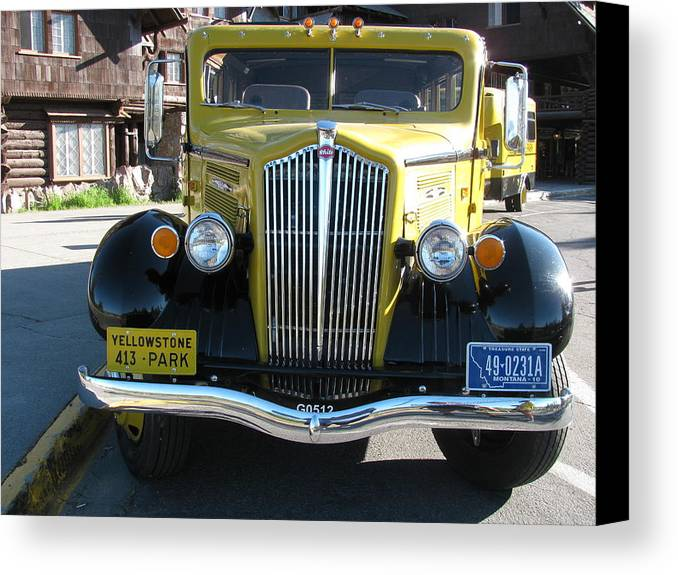 Transportation Canvas Print featuring the photograph Black And Yellow by Steven Parker