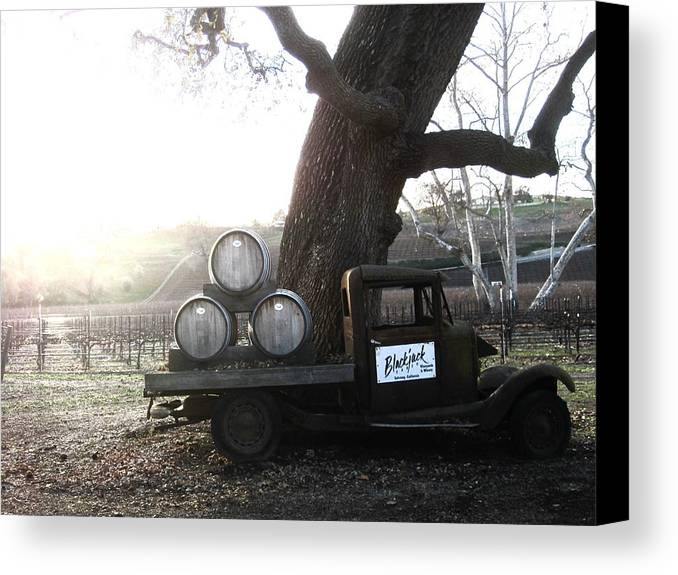 Winery Canvas Print featuring the photograph Bygone Era by Paul Foutz