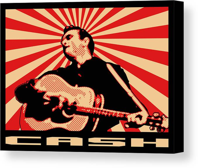 Johnny Cash Canvas Print featuring the digital art Cash by Lance Vaughn