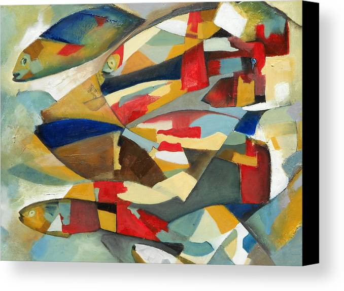 Fish Canvas Print featuring the painting Fish 1 by Danielle Nelisse