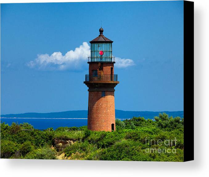 Light House Canvas Print featuring the photograph Gay Head Light by Mark Miller