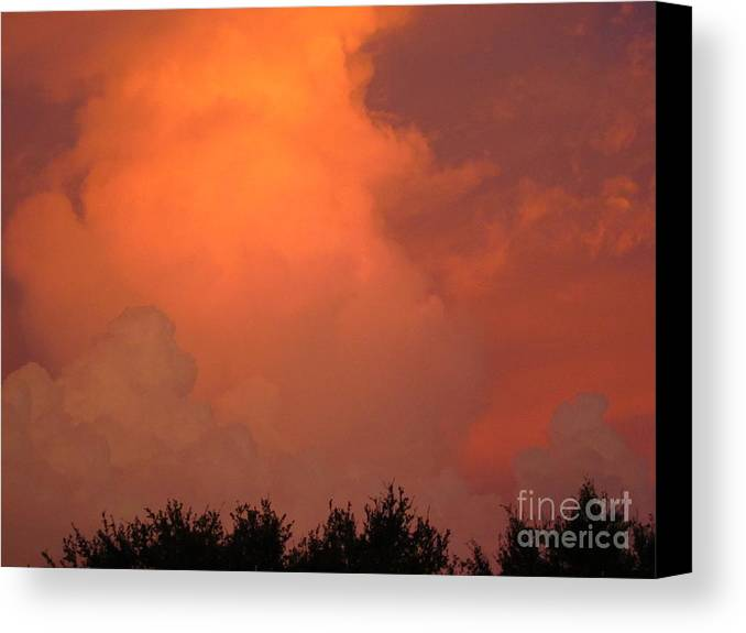 Sunset Canvas Print featuring the photograph Going Out With A Boom by Elizabeth Carr