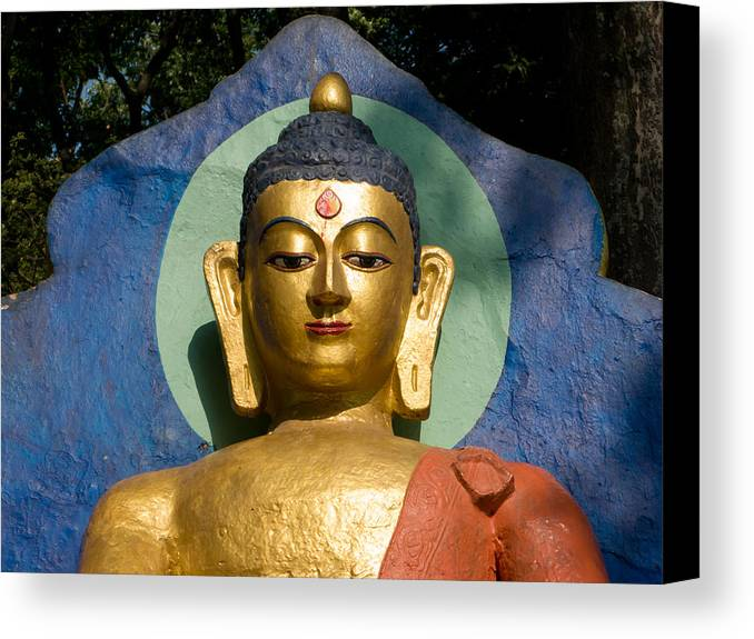 Buddha Canvas Print featuring the photograph Golden Buddha by Nila Newsom
