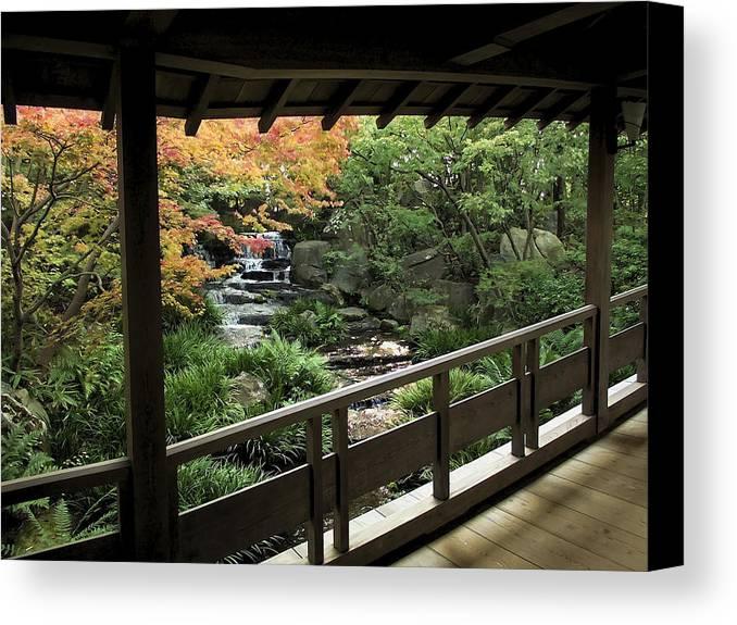 Japan Canvas Print featuring the photograph Kokoen Garden - Himeji City Japan by Daniel Hagerman