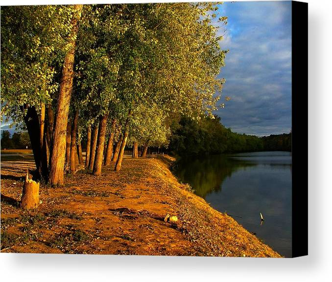 Evening Canvas Print featuring the photograph Late Evening On White River by Julie Dant