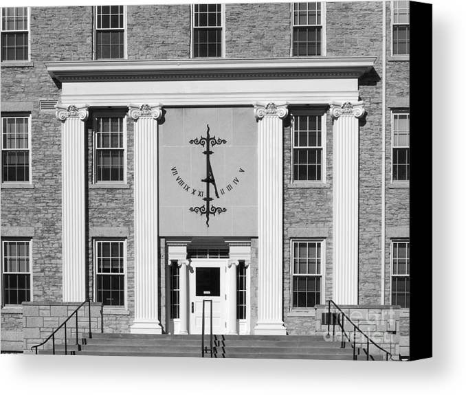 Appleton Canvas Print featuring the photograph Lawrence University Main Hall Sundial by University Icons