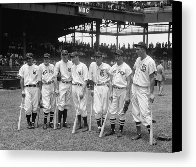 Baseball Canvas Print featuring the photograph Legends Row by Mountain Dreams