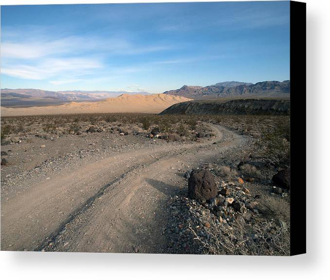 Death Valley Canvas Print featuring the photograph Morning On Steele Pass by Joe Schofield