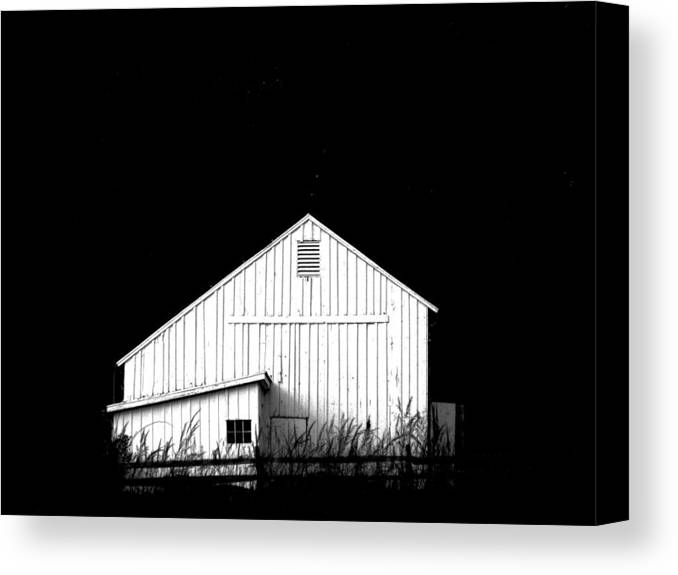 White Barns Canvas Print featuring the photograph Nightfall by Angela Davies