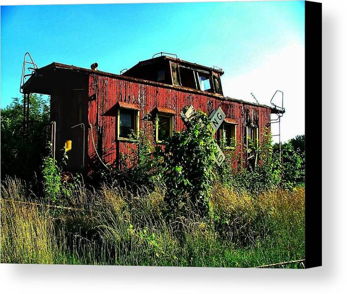 Caboose Canvas Print featuring the photograph Old Caboose by Julie Dant