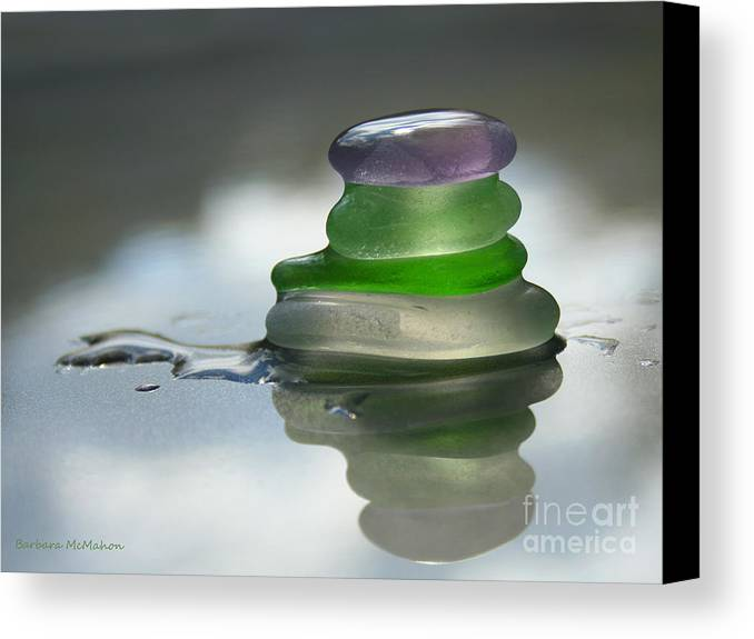 Seaglass Canvas Print featuring the photograph Peace by Barbara McMahon
