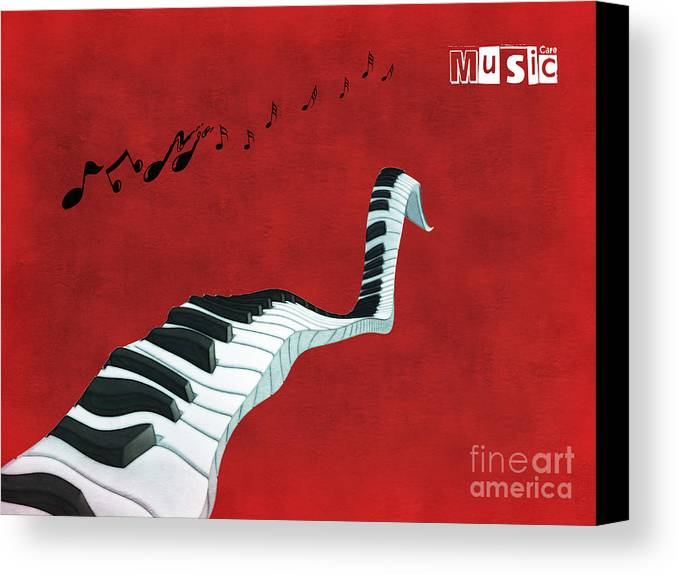Piano Canvas Print featuring the digital art Piano Fun - S01at01 by Variance Collections