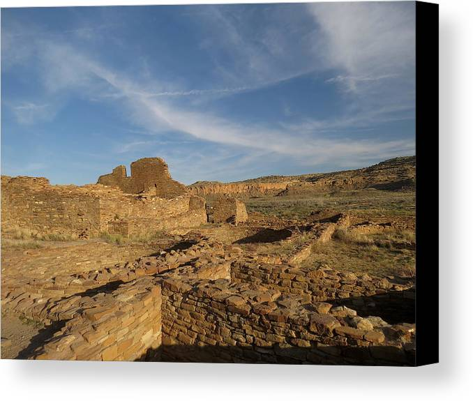 Chaco Canvas Print featuring the photograph Pueblo Bonito Walls And Rooms by Feva Fotos