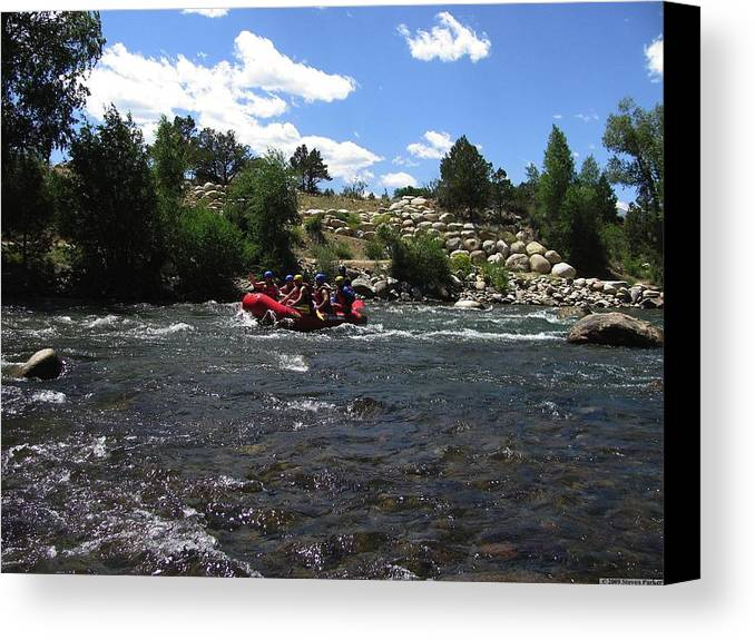 Transportation Canvas Print featuring the photograph Rafting The River by Steven Parker